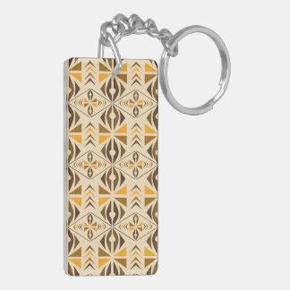 Navajo Double-Sided Rectangular Acrylic Key Ring