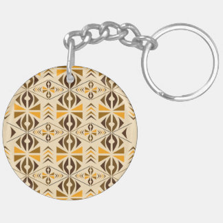 Navajo Double-Sided Round Acrylic Key Ring