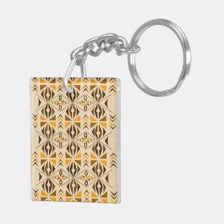 Navajo Double-Sided Square Acrylic Key Ring