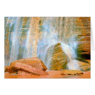 Navajo Falls Greeting Card