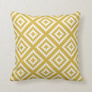 Navajo Gemetric Pattern in Mustard Yellow Cushion
