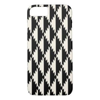 Navajo Geometric Diamond Pattern Black and White iPhone 8/7 Case