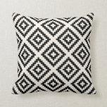 Navajo Geometric Pattern Black and Cream Cushion