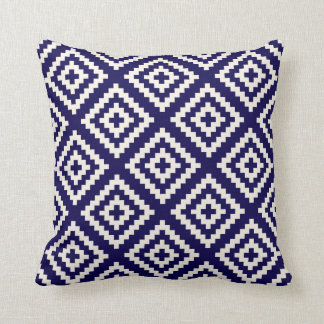 Navajo Geometric Pattern Cobalt Blue Cushion