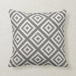 Navajo Geometric Pattern in Grey and Cream Cushion
