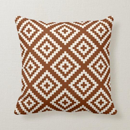 Navajo Geometric Pattern Rust Brown Cushion