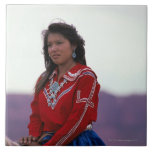 Navajo Girl on Horseback Ceramic Tiles