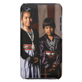 Navajo Girls in Front of Flag iPod Case-Mate Cases