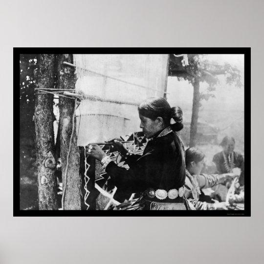 Navajo Indian Weaver 1912 Poster