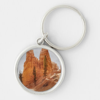 Navajo Loop Trail, Bryce Canyon Silver-Colored Round Key Ring