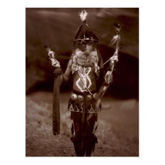 Navajo man in ceremonial dress postcards