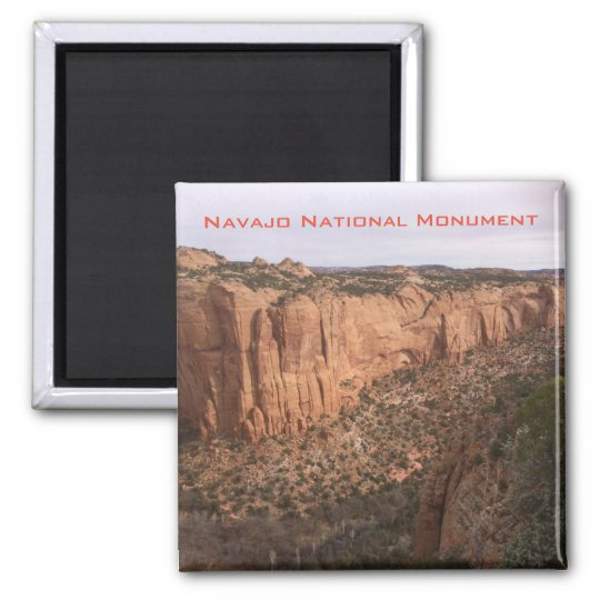 Navajo National Monument Square Magnet
