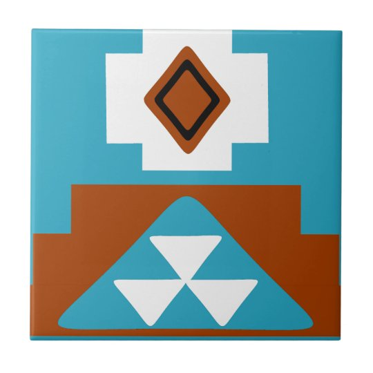 Navajo Native American Tribal Inspired Pattern Small Square Tile