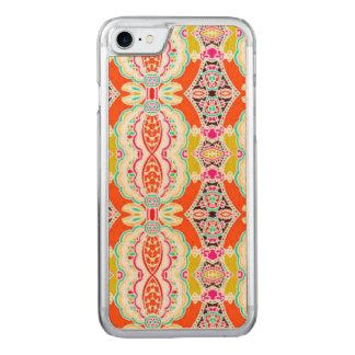 NAVAJO ORANGE TRIBAL PATTERN CARVED iPhone 8/7 CASE