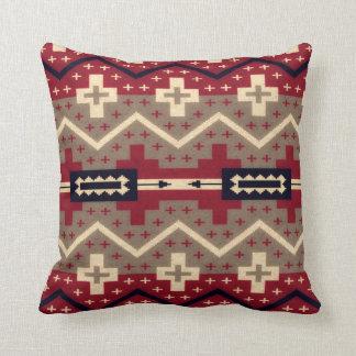Navajo Pattern Red Throw Pillow