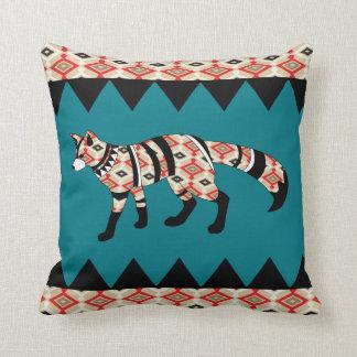 Navajo Patterned Fox Custom Cushion
