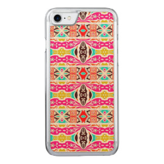 NAVAJO PINK TRIBAL PATTERN CARVED iPhone 8/7 CASE