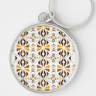Navajo Silver-Colored Round Key Ring