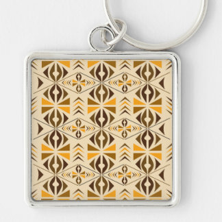 Navajo Silver-Colored Square Key Ring