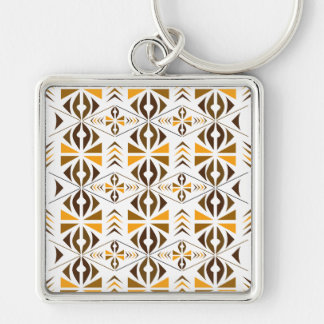 Navajo Silver-Colored Square Key Ring