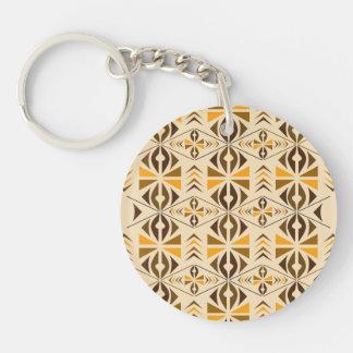Navajo Single-Sided Round Acrylic Key Ring