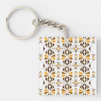 Navajo Single-Sided Square Acrylic Key Ring