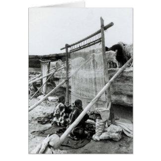 Navajo weavers, c.1914 card