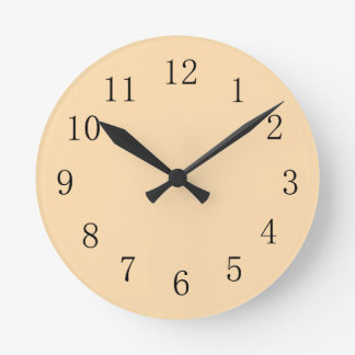 Navajo White Kitchen Wall Clock