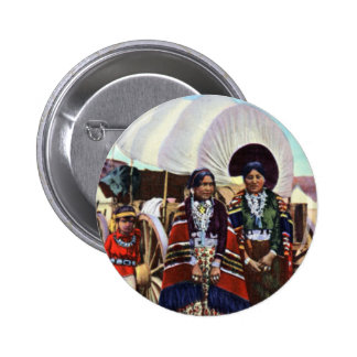Navajo Women in Native Clothing Button