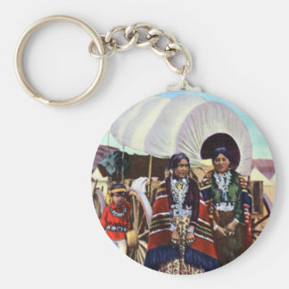 Navajo Women in Native Clothing Keychains