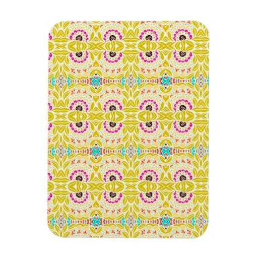 NAVAJO YELLOW TRIBAL PATTERN RECTANGLE MAGNET