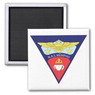 Naval Air Station - Memphis Square Magnet