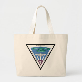 Naval Air Station - New Orleans Large Tote Bag