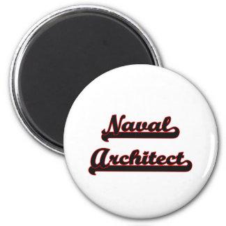 Naval Architect Classic Job Design 2 Inch Round Magnet