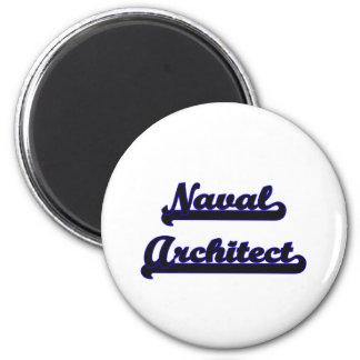 Naval Architect Classic Job Design 6 Cm Round Magnet