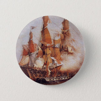 Naval battle between the Confiance and HMS Kent 6 Cm Round Badge