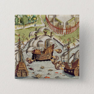Naval Battle between the Portuguese and French 15 Cm Square Badge