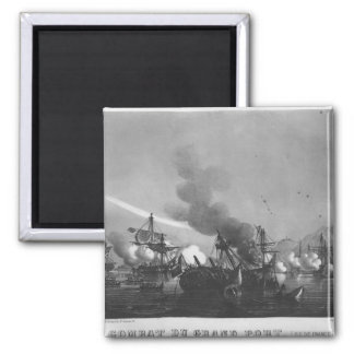 Naval battle of Grand Port, Mauritius, in 1810 Fridge Magnet