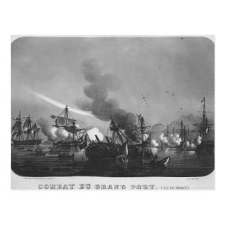Naval battle of Grand Port, Mauritius, in 1810 Postcard