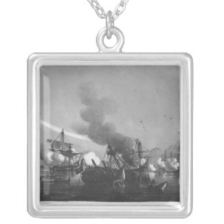 Naval battle of Grand Port, Mauritius, in 1810 Silver Plated Necklace