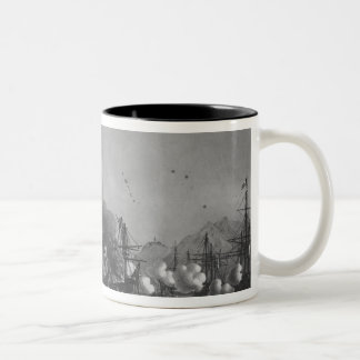 Naval battle of Grand Port, Mauritius, in 1810 Two-Tone Coffee Mug