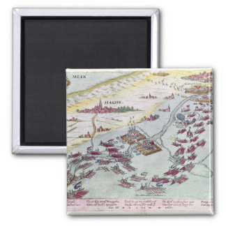Naval Combat off the Coast of The Hague Square Magnet