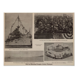 Naval, educational triumphs, Seattle, Wash Poster