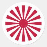 Naval Ensign Japan, Japan Round Sticker