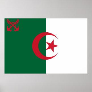 Naval Ensign Of Algeria, Algeria Posters