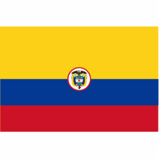 Naval Ensign Of Colombia, Colombia Standing Photo Sculpture