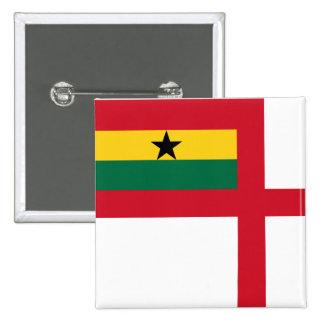 Naval Ensign Of Ghana, Ghana flag Pinback Button