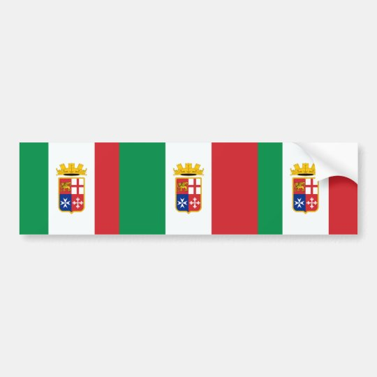Naval Ensign Of Italy, Italy Bumper Sticker