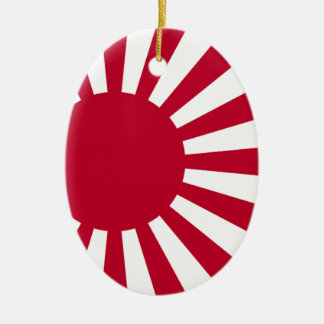 Naval Ensign of Japan - Japanese Rising Sun Flag Christmas Ornament