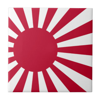 Naval Ensign of Japan - Japanese Rising Sun Flag Tile